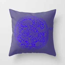 Botanical Seaside Throw Pillow