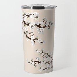 Japanese Sakura Cherry Blossoms (ivory/white) Travel Mug