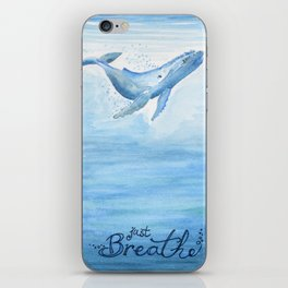 Whale - Take a deep breath iPhone Skin