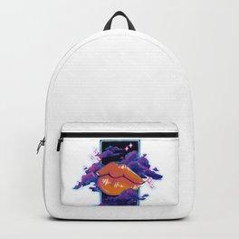 Neon Lip Gloss on white Backpack