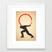 atlas Framed Art Prints featuring Atlas by Dave Razor Compton Wolff