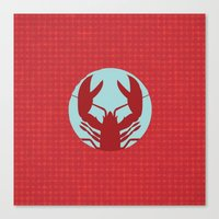 lobster Canvas Prints featuring Lobster by Mr and Mrs Quirynen