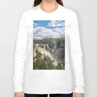 geology Long Sleeve T-shirts featuring Beautiful Barron Falls by Wendy Townrow