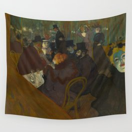 Henri de Toulouse-Lautrec - At the Moullin Rouge Wall Tapestry