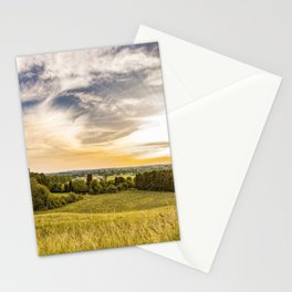 Sunset Field Landscape Panoramic Stationery Cards