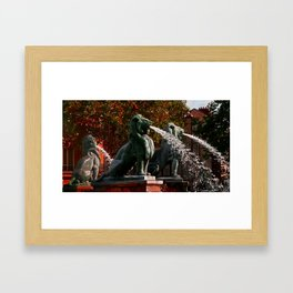 Lions in Paris by Lika Ramati Framed Art Print