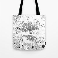 stockholm Tote Bags featuring STOCKHOLM by Maps Factory