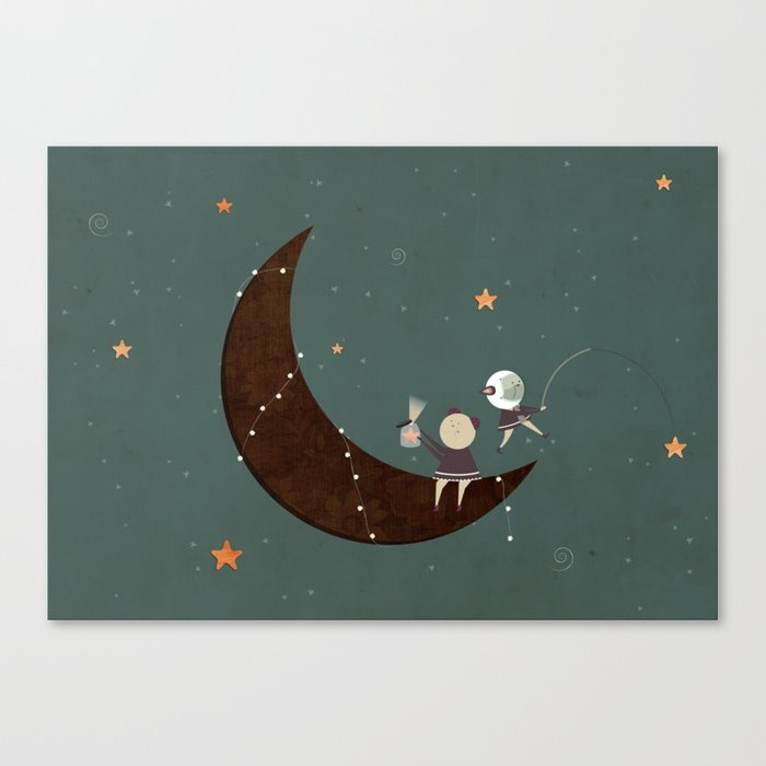 You, Me, the Moon and the Stars Canvas Print