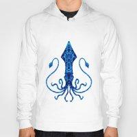 squid Hoodies featuring Squid by Bahadır Tez
