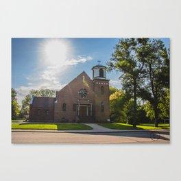 Holy Trinity Catholic Church, Fingal, North Dakota 3 Canvas Print