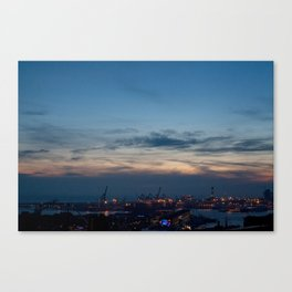 Sunset in Genova  Canvas Print