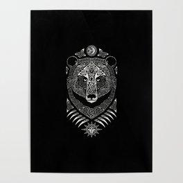 Scandinavian bear Poster