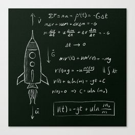 Rocket science Canvas Print
