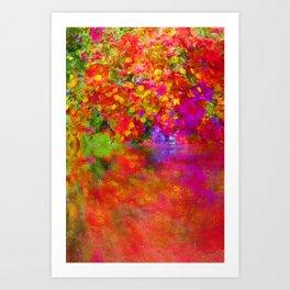 Potpourri flowers reflection Art Print