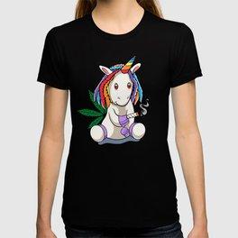 Funny Cannabis Weed Unicorn Gift design T-shirt