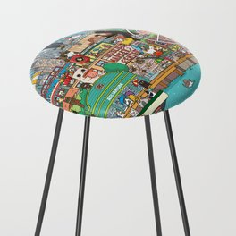 Seattle cats Counter Stool