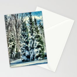 Winter In New England Stationery Cards