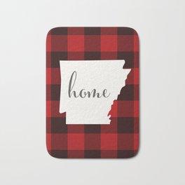 Arkansas is Home - Buffalo Check Plaid Bath Mat