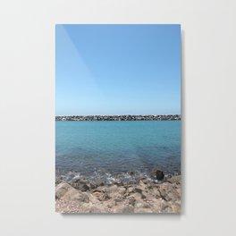 Ocean Jetty Metal Print