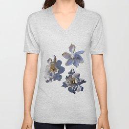 3 White Gardenias [Cecilia Lee] Unisex V-Neck