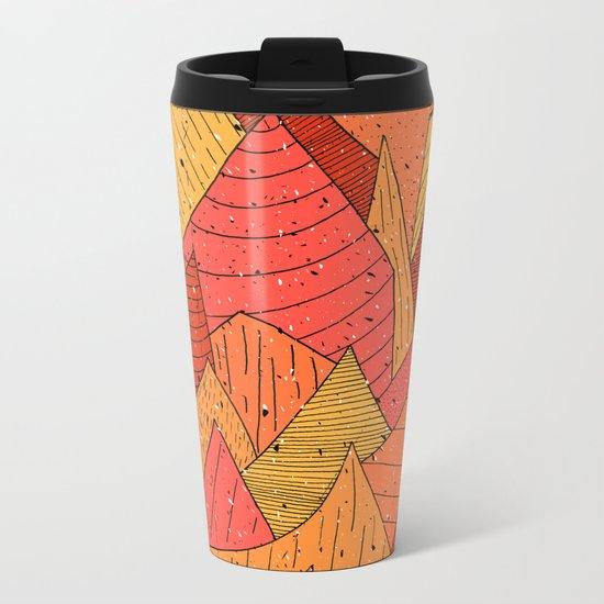 Pumpkin Slices Metal Travel Mug