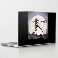 jack skellington Laptop & iPad Skins featuring Jack Skellington Kid by Andy Fairhurst Art