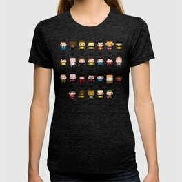 Pixel Star Trek Alphabet T-shirt