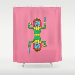 PIZZA KWEEN Shower Curtain
