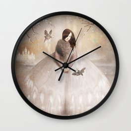 Moth Princess Wall Clock