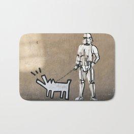 Haring dog, Banksy and clone Bath Mat