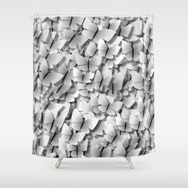 White Butterflies Shower Curtain