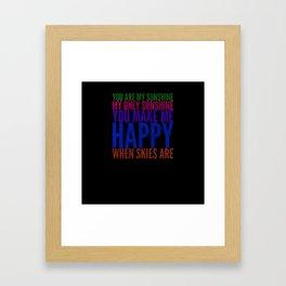 Sunshine sorbet Framed Art Print