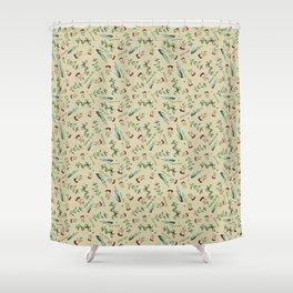 Italian Herbs Pattern Shower Curtain