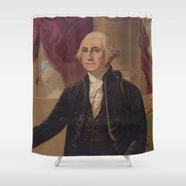 Vintage Portrait of George Washington (1876) Shower Curtain