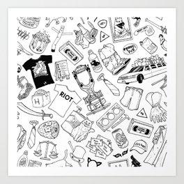 It's Always Sunny Illustration Pattern Art Print