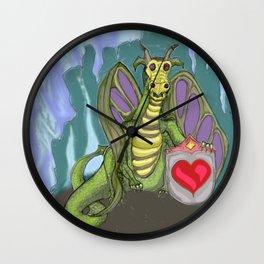 Lovelorn Dragon Wall Clock