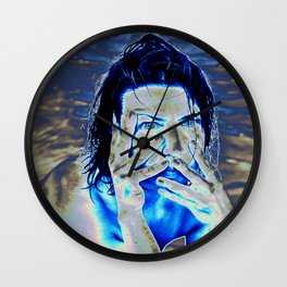 Expressive Portrait of NADJA Wall Clock