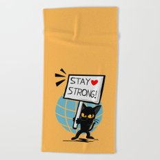 Stay strong Beach Towel