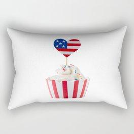 Independence day cupcake Rectangular Pillow
