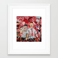 shaun of the dead Framed Art Prints featuring Shaun of the dead by Lanka69