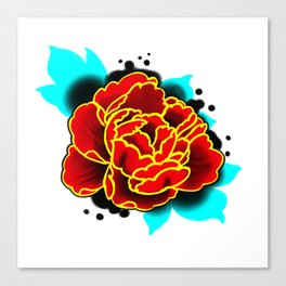 Red Peony  Canvas Print