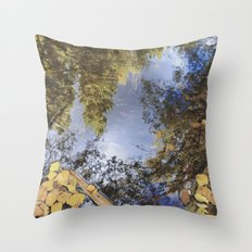 Forest reflections. Retro autumn Throw Pillow