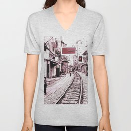 The train is coming soon.... Unisex V-Neck
