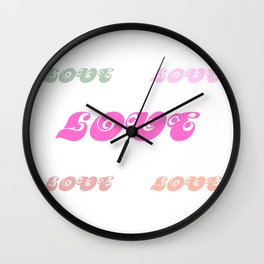 Love Words (pastel) Wall Clock