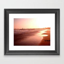 Santa Cruz Sunset Framed Art Print