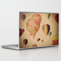 hot air balloons Laptop & iPad Skins featuring Hot Air Balloons by AdrienneW