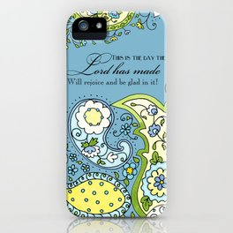 Hand Drawn Paisley Floral, Flower n Leaf Scroll Inspirational Text iPhone Case