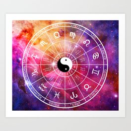 We are one with the universe Art Print