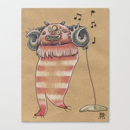 MUSIC MONSTER Canvas Print