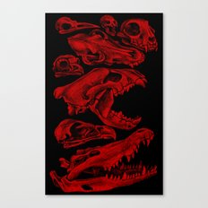 Carnivores in Red Canvas Print